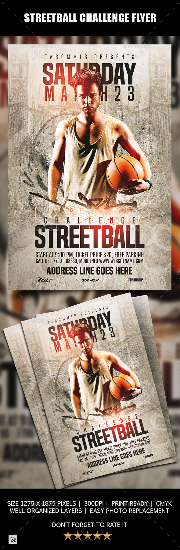 Streetball Challenge Flyer - Sports Events