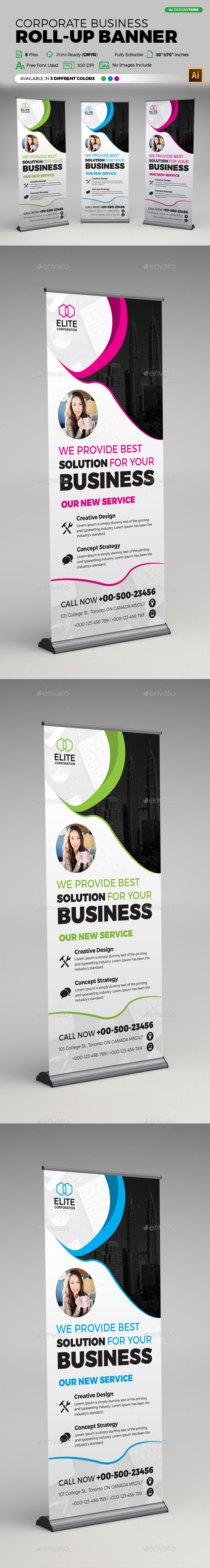 Corporate Business X Banner - Signage Print Templates