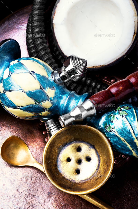 Coconut exotic hookah - Stock Photo - Images