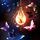 Bulb with Night Butterflies