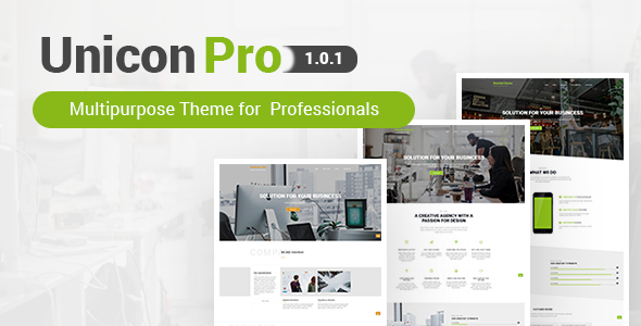 Unicon Pro | Responsive MultiPurpose WordPress Theme - Corporate WordPress