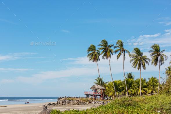 Coast in El Salvador - Stock Photo - Images