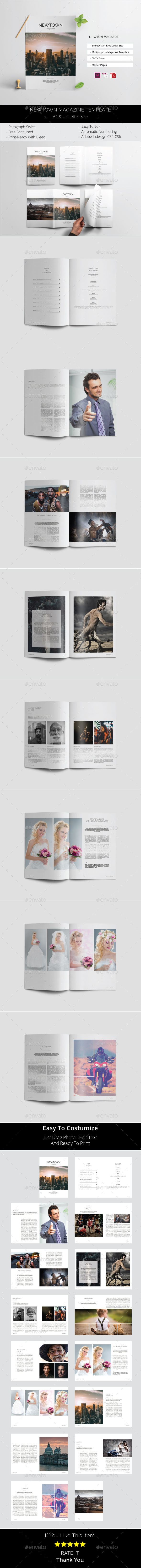 Newtown Magazine - Magazines Print Templates