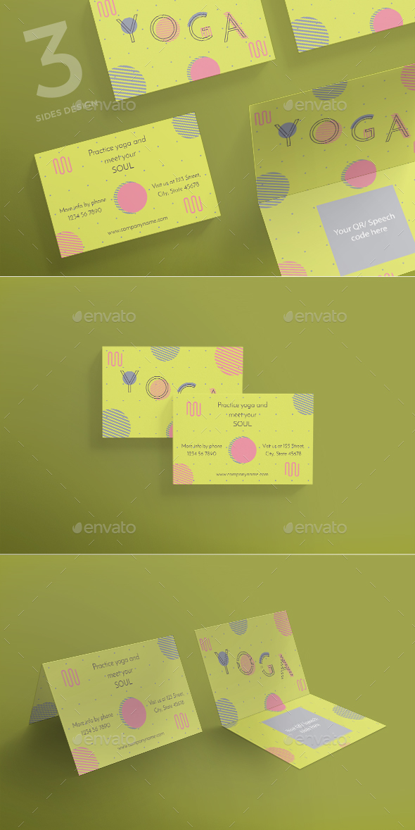 Yoga Business Card by ambergraphics | GraphicRiver