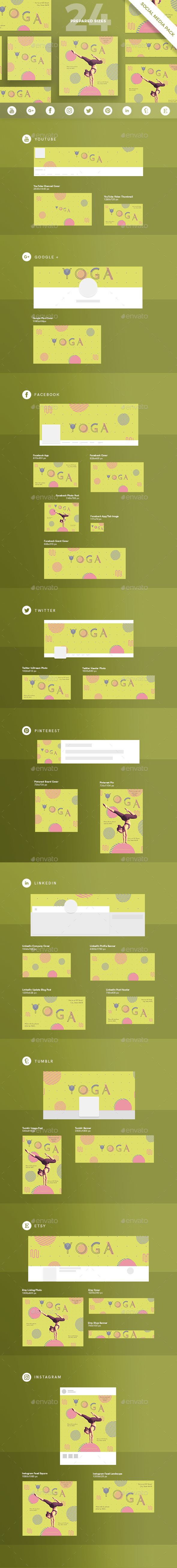 Yoga Social Media Pack - Miscellaneous Social Media