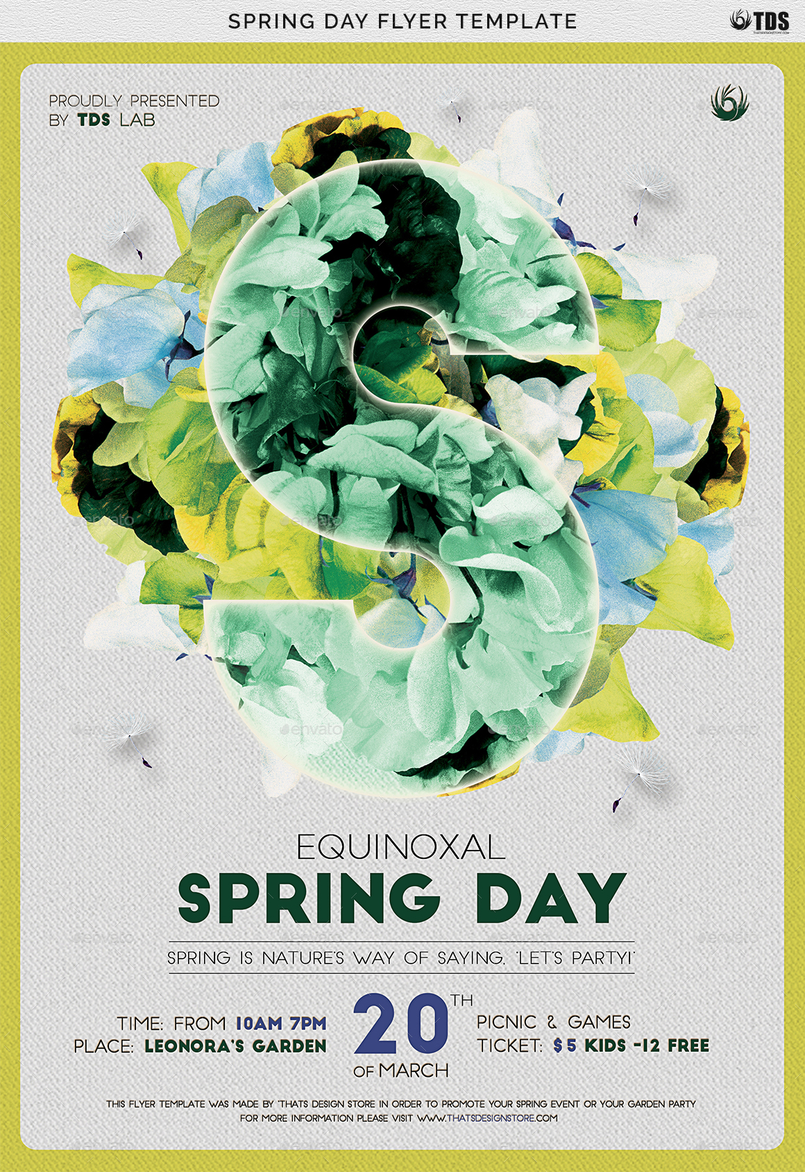 Spring Day Flyer Template By Lou606 Graphicriver