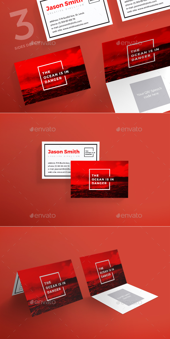 Ocean in Danger Business Card - Corporate Business Cards