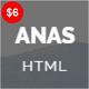 ANAS - Personal Portfolio HTML5 Template - ThemeForest Item for Sale
