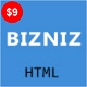 BIZNIZ - One Page Corporate HTML Template - ThemeForest Item for Sale
