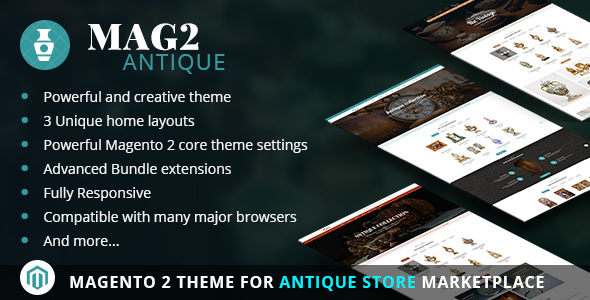Mag2Antique - Magento 2 Theme for Antique Store Marketplace - Magento eCommerce