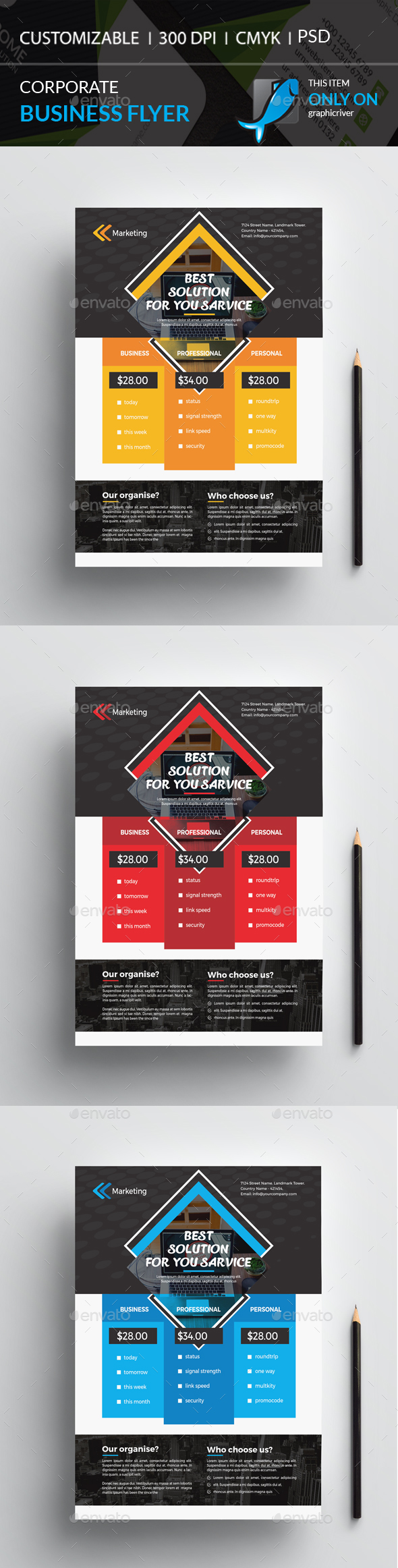Multipurpose Flyer Price Designs - Corporate Flyers