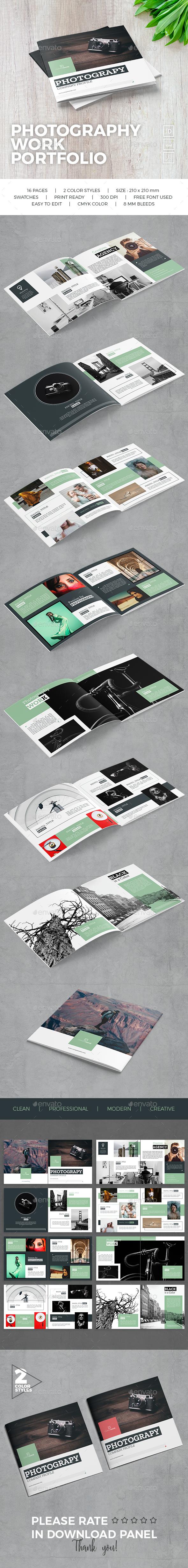 Photography Work Portfolio - Portfolio Brochures