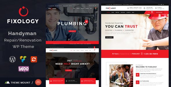 Fixology | Handyman Multi-Service WordPress Theme