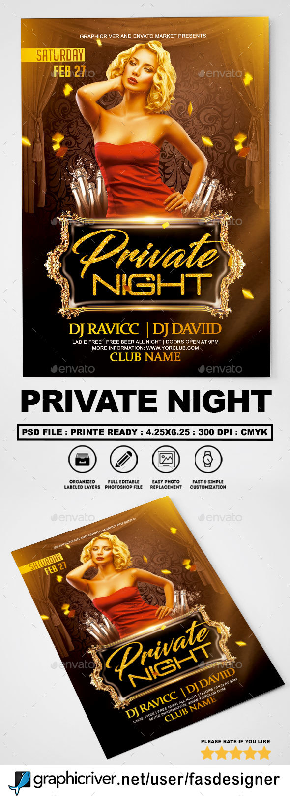 Private Night Flyer - Clubs & Parties Events