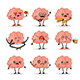 Brain Character Vector Set - GraphicRiver Item for Sale