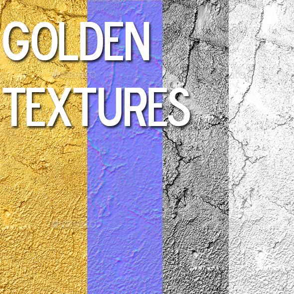 Golden textures - 3DOcean Item for Sale