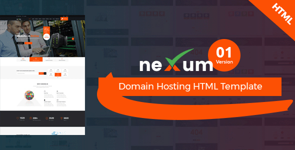 neXum Host - Hosting and Domain HTML Template