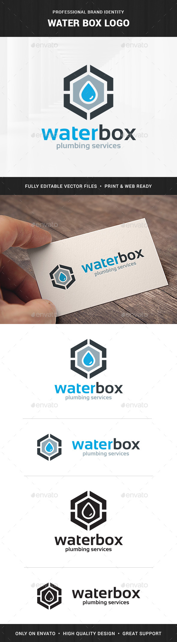 Water Box Logo Template - Symbols Logo Templates