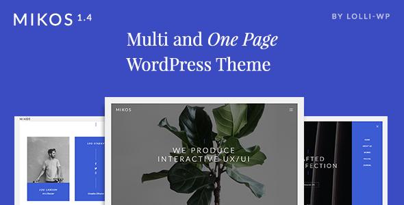 Mikos - Multi and One Page WordPress Theme - Creative WordPress