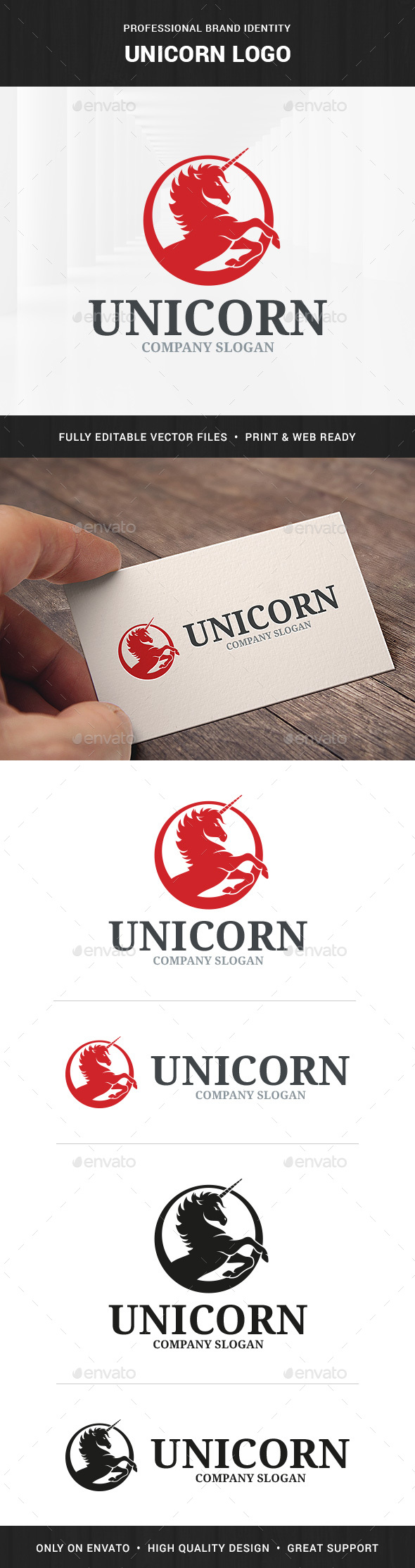 Unicorn Logo Template - Animals Logo Templates