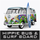 Hippie Bus & Surf Board Mock-Up - GraphicRiver Item for Sale