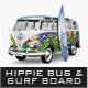Hippie Bus & Surf Board Mock-Up