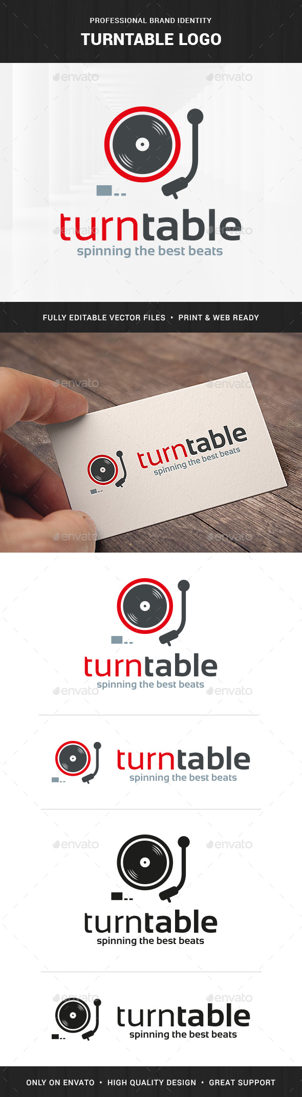 Turntable Logo Template - Objects Logo Templates