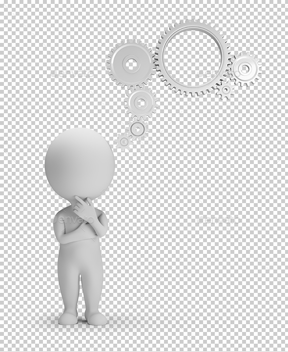 3D Small People - Thought Mechanism - Characters 3D Renders