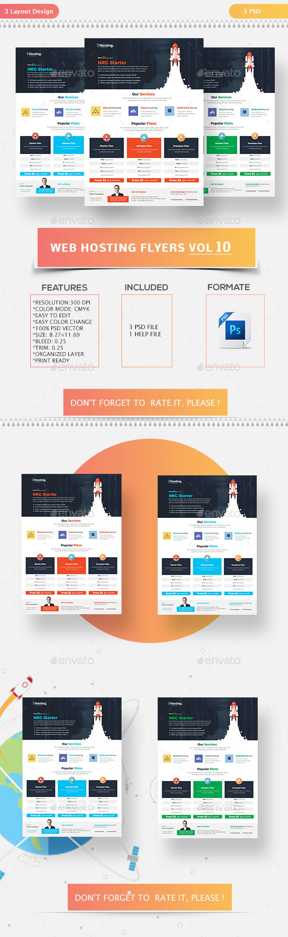Web Hosting Flyers Vol-10 - Commerce Flyers