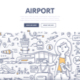 Airport Doodle Concept - GraphicRiver Item for Sale