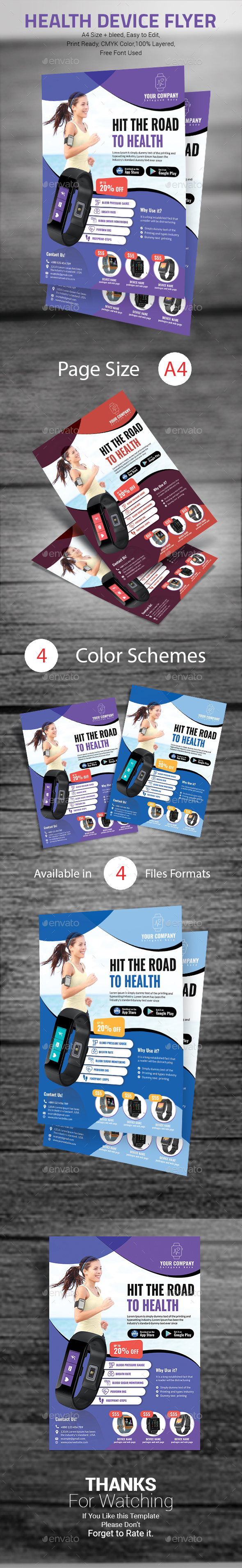 Health Device Flyer - Commerce Flyers