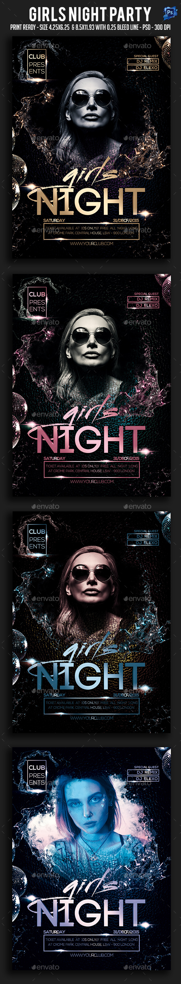Girls Night Party Flyer - Clubs & Parties Events