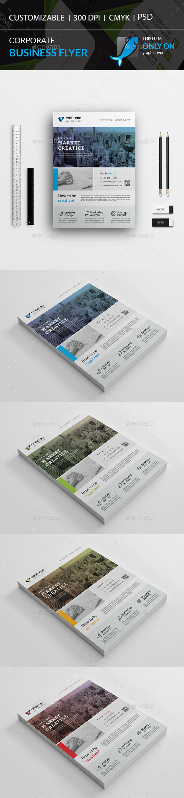 Corporate Flyer - Corporate Business Cards