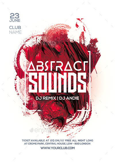 Abstract Sounds Party Flyer