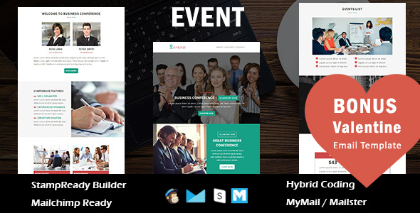 Event - Multipurpose Responsive Email Template With Online StampReady Builder Access