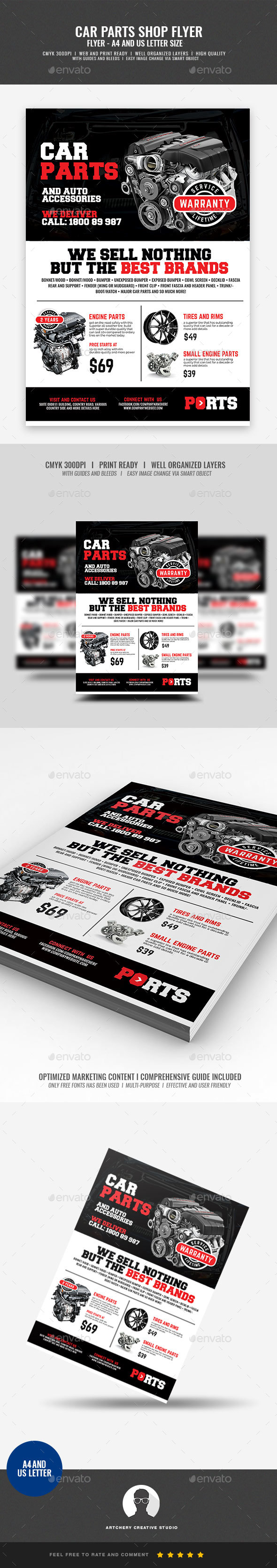 Car Parts and Auto Supply Center Flyer - Corporate Flyers