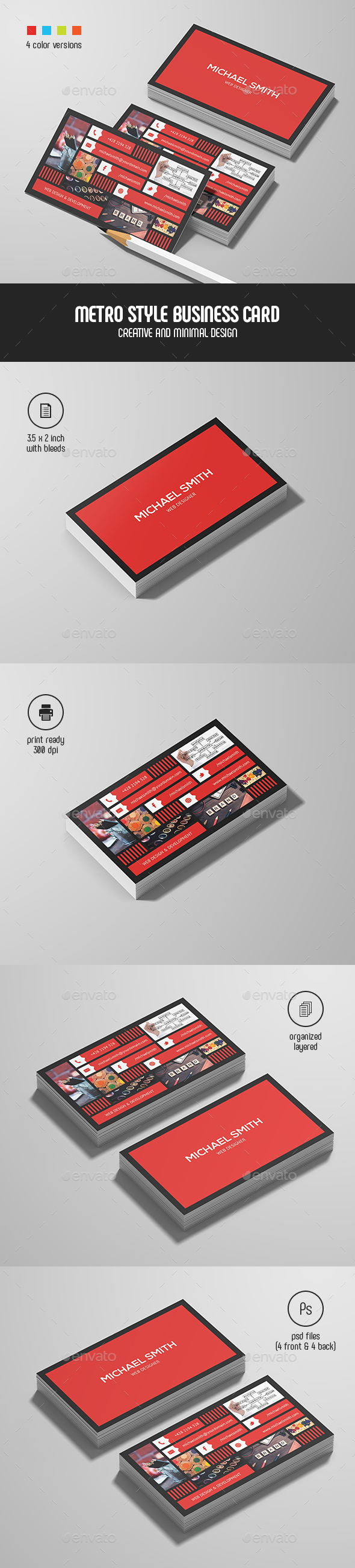 Metro Style Business Card - Creative Business Cards