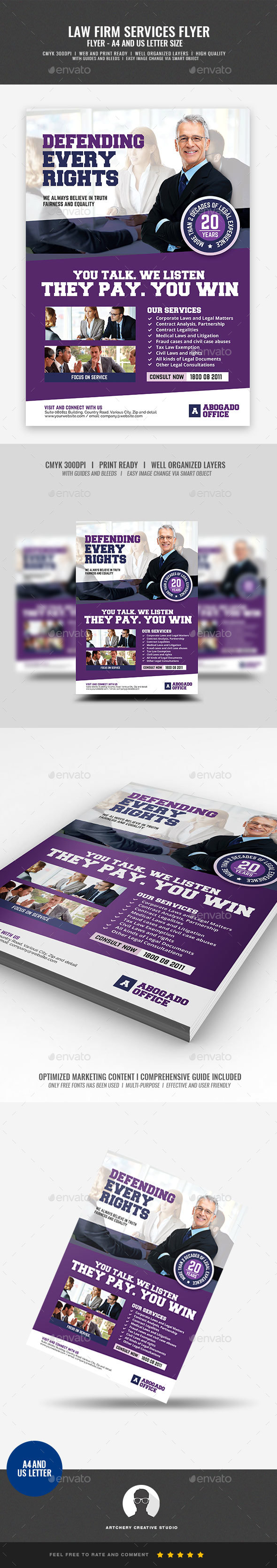Legal and Law Firm Flyer - Corporate Flyers