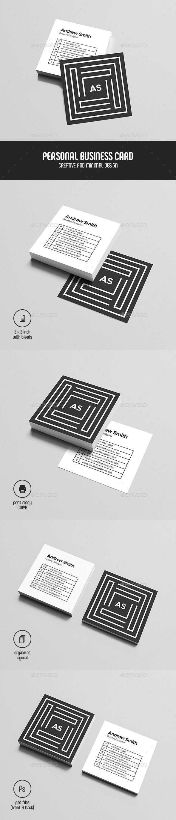 Square Personal Business Card - Corporate Business Cards