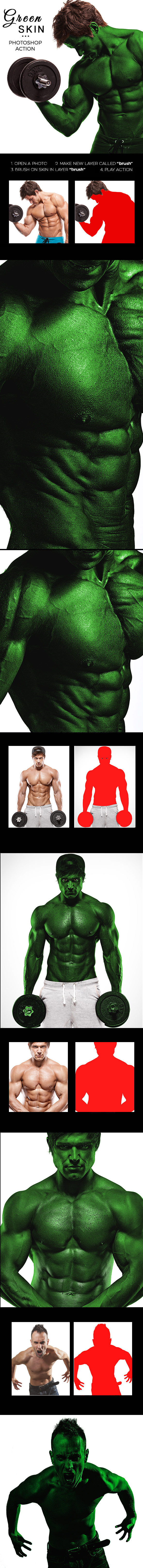 Green Skin Photoshop Action - Photo Effects Actions