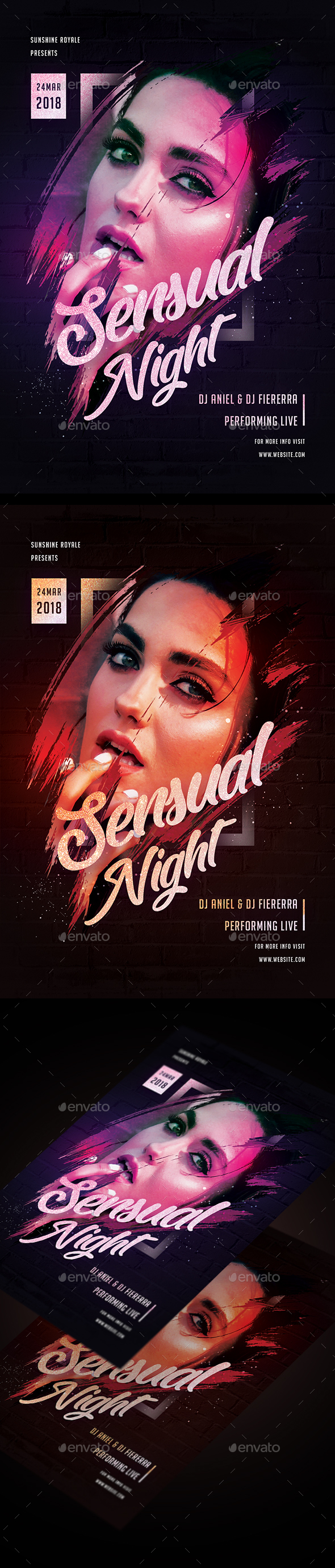 Sensual Night Party Flyer - Clubs & Parties Events