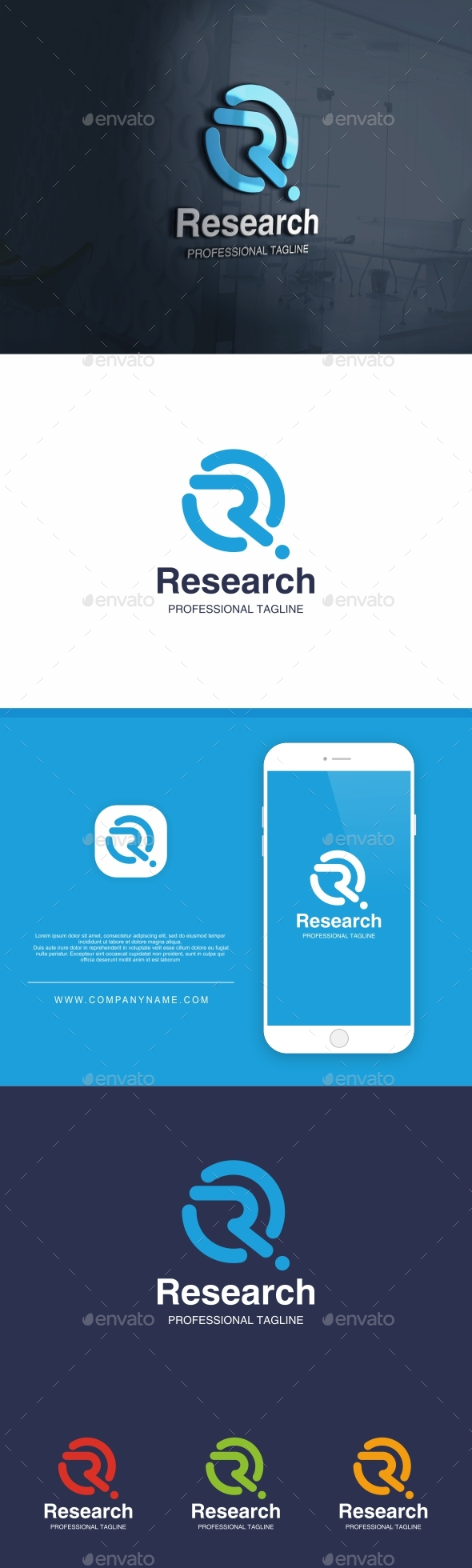 Research Letter R Logo - Letters Logo Templates