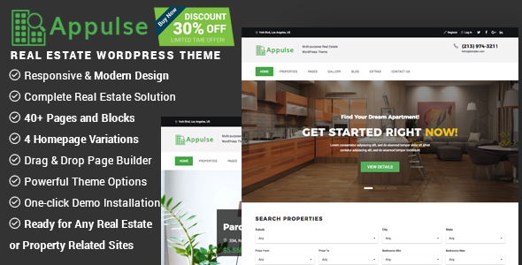 Appulse - Real Estate WordPress Theme - Real Estate WordPress