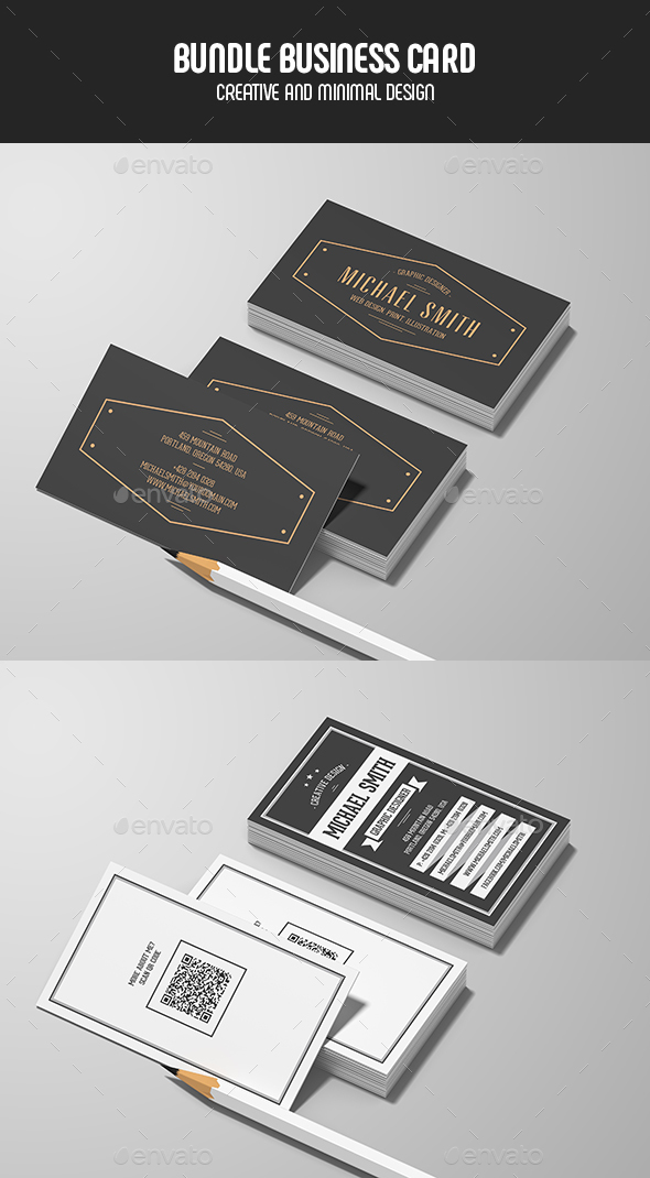 Business Cards - Bundle - Retro/Vintage Business Cards