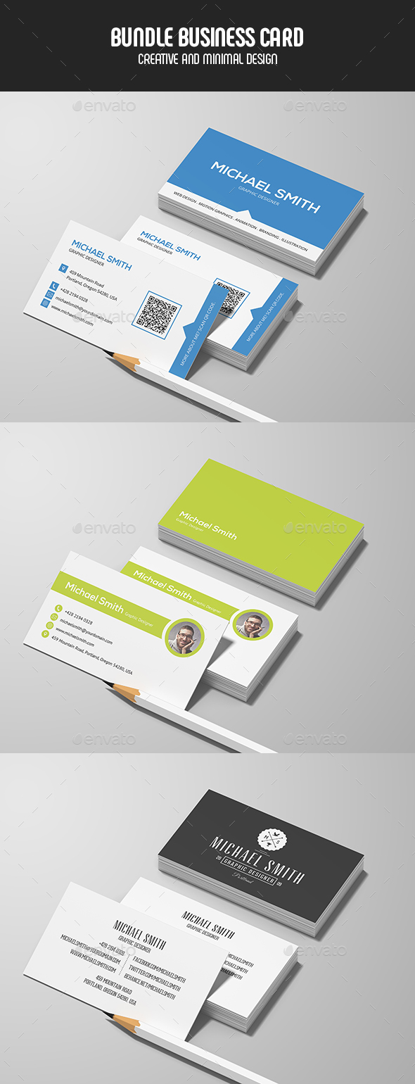 Business Cards - Bundle - Business Cards Print Templates