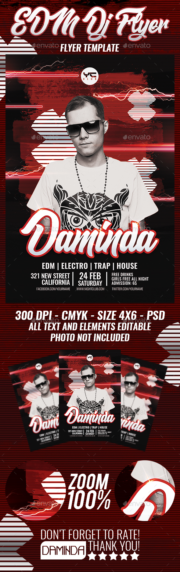 Electro Dj Poster 8 Flyer Template - Clubs & Parties Events