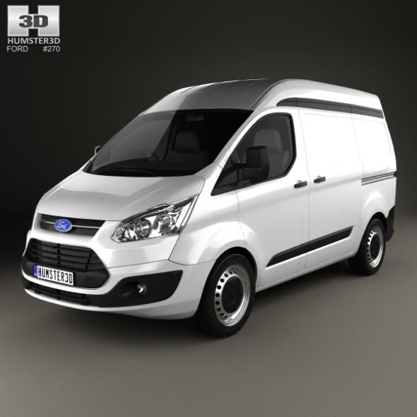 Ford Transit Custom Panel Van L1H2 2012 - 3DOcean Item for Sale