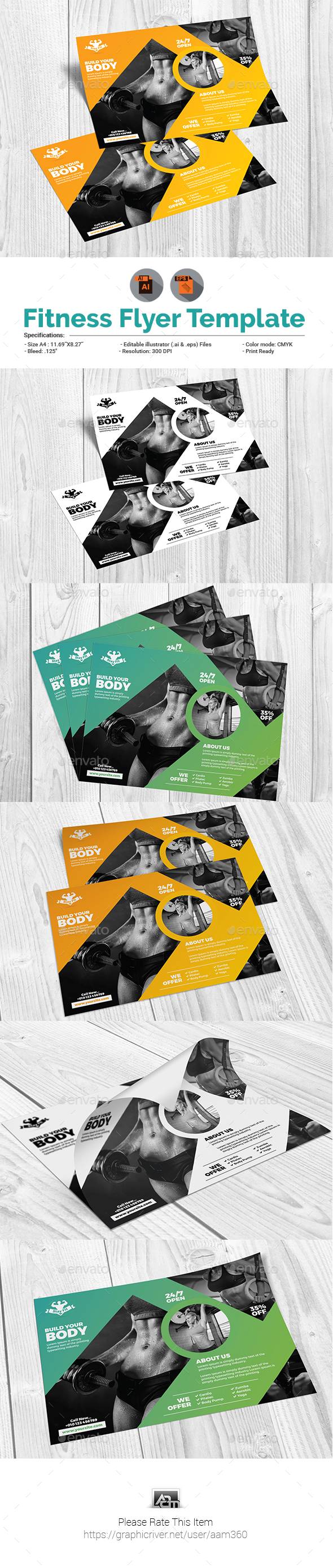 GYM/Fitness Flyer - Sports Events