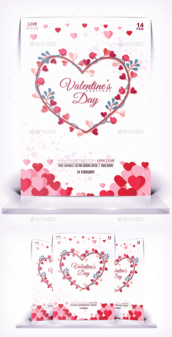 Valentines Love Flyer - Events Flyers
