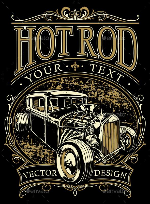 Hot Rod Design - Vectors